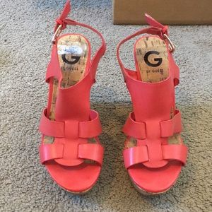 Guess Coral Wedges size 6.5